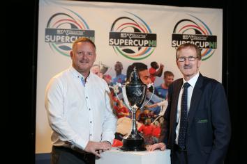 Former Man Utd defender attends SuperCupNI draw