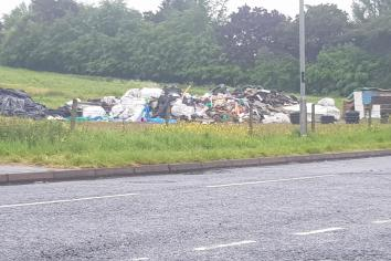 'Appalled' at £8000 Cloughmills bonfire site clean up bill