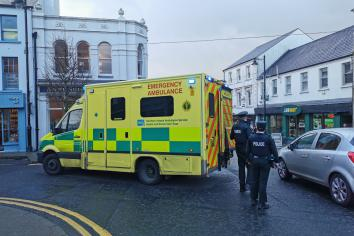 Ambulance and police attend after Church Street accident.