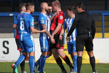 Coleraine host Crues in front of BBC cameras