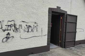 Rasharkin Orange Hall graffiti attack treated as hate crime