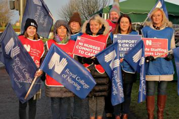 Tears are shed on the picket line