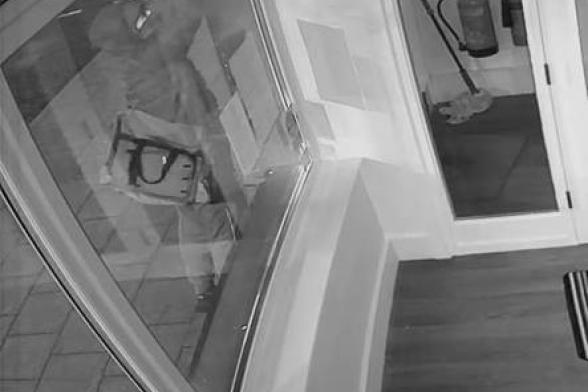 Shop releases CCTV of attempted burglar